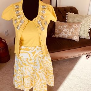 INC Skirt Size 4 and Matching Cami/Sweater Small